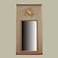 Musical Motif Trumeau Musical Mirror in Blue