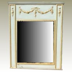 Mirror Trumeau With Double Swag and Floral Drops