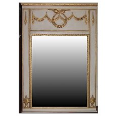Mirror with double Swag Trumeau Motif Onlays
