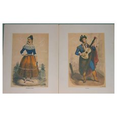 Engravings Lithographs 6-Spanish Art-Pannemaker Serenade