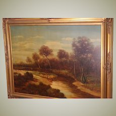 Original Oil Painting in Gold Wood Frame