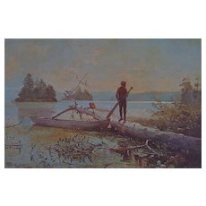 The Trapper by Winslow Homer Lithograph