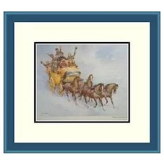 Framed Print-A Wild New Year's Ride by Wolfgang Tritt