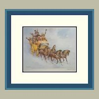Framed Print-A Wild New Year's Ride by Wolfgang Tritt FREE S&H