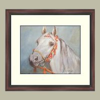 Watercolor Lithograph by Wolfgang Tritt  Framed- FREE S&H
