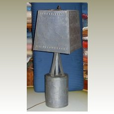 Lamp in Punched Tin