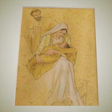 Mary and Christ Child and Joseph