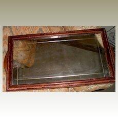 Mirror/Tray with Mahogany Frame