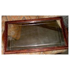 Mirror/Tray with Mahogany Frame