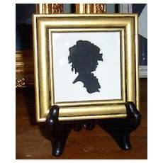 Silhouette of Young Girl with Curls