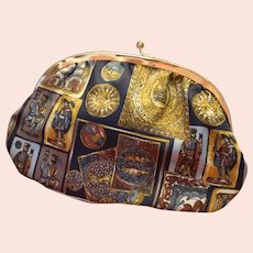 Evening Purse or Jewelry Bag  Decorated Greek Designs