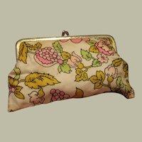 Floral Change Purse or Make-Up Storage Bag