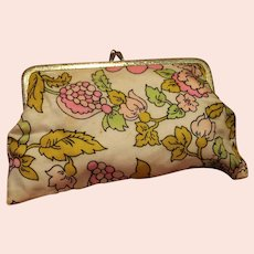 Floral Change Purse or Make-Up Storage Bag