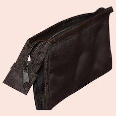 Black Sateen Evening or Make-Up Storage Bag