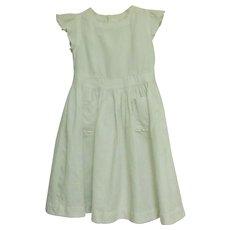 Girl's Waffle White Dress