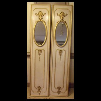Twin Trumeau Mirrors