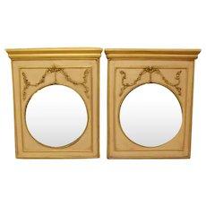 Twin Trumeau Mirrors