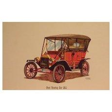 Cars-Vintage Portfolio 6 Lithographs-Chevrolet, Nash Rambler, Oldsmobile,Packard, Ford