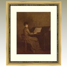 Robert Harris portrait of Harmony/Harmonie at Piano