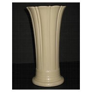 """Vintage Fiesta 10"""" Ivory Vase"""