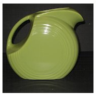 1950's Chartreuse Fiesta Disk Water Pitcher