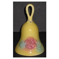 Hull Sunglow Loop Handle Bell – Yellow with Pink Flowers