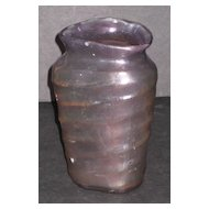 "Consolidated Catalonian Amethyst 6"" triangle vase"