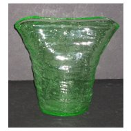 Consolidated Catalonian Fan vase in Emerald