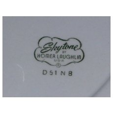 Homer Laughlin Skytone 1953 Calendar Plate