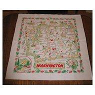 Vintage Washington State Map Cloth