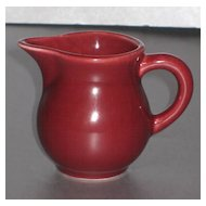 HLC Harlequin Individual Creamer in Maroon