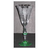 Tiffin 15003 Stem Wine Glass with Psyche etch