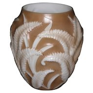 Phoenix Brown Shadow Fern Vase