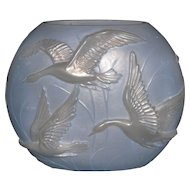 Phoenix Flying Geese vase in light blue wash