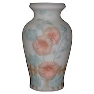 Consolidated Hollyhocks Vase