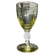 Morgantown Golf Ball cordial glass in Topaz Mist