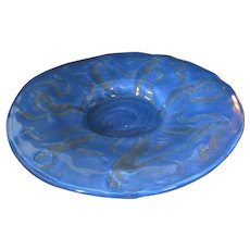 Consolidated Dancing Nymphs Palace Platter in Reuben Blue