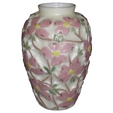 Consolidated Dogwood vase with unusual finish