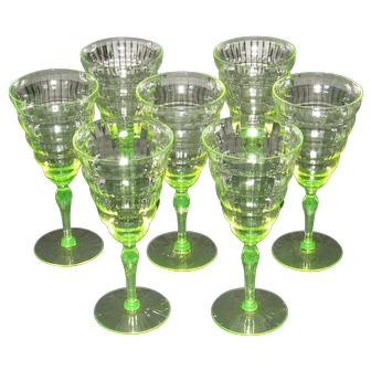 Utility Glass Works Cambodia Water Glasses, set of 7