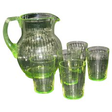 Utility Glass Works Pitcher Set