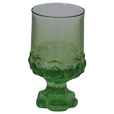 Tiffin Madeira 6 oz goblet Apple Green