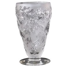 Consolidated Five Fruits footed goblet in French Crystal