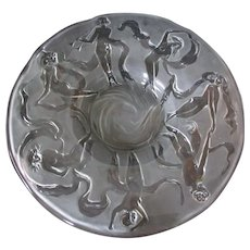 Consolidated Dancing Nymphs Palace Platter in French Crystal