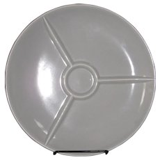Homer Laughlin Rhythm Grey Snack plate