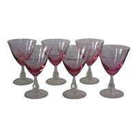 Tiffin Wistaria Water Glasses, set of 6