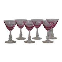 Tiffin Wistaria cocktail glasses, set of 6