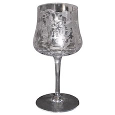 Cambridge Marjorie etch water glasses