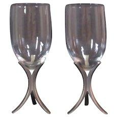 Fostoria Triumph Wine Glasses, set of 2