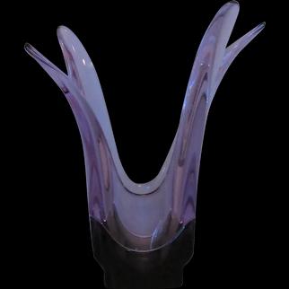 Tiffin Empress 6551 Twilight and Smoke flared vase