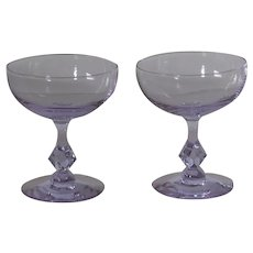 Tiffin Twilight Champagne glasses, set of 2